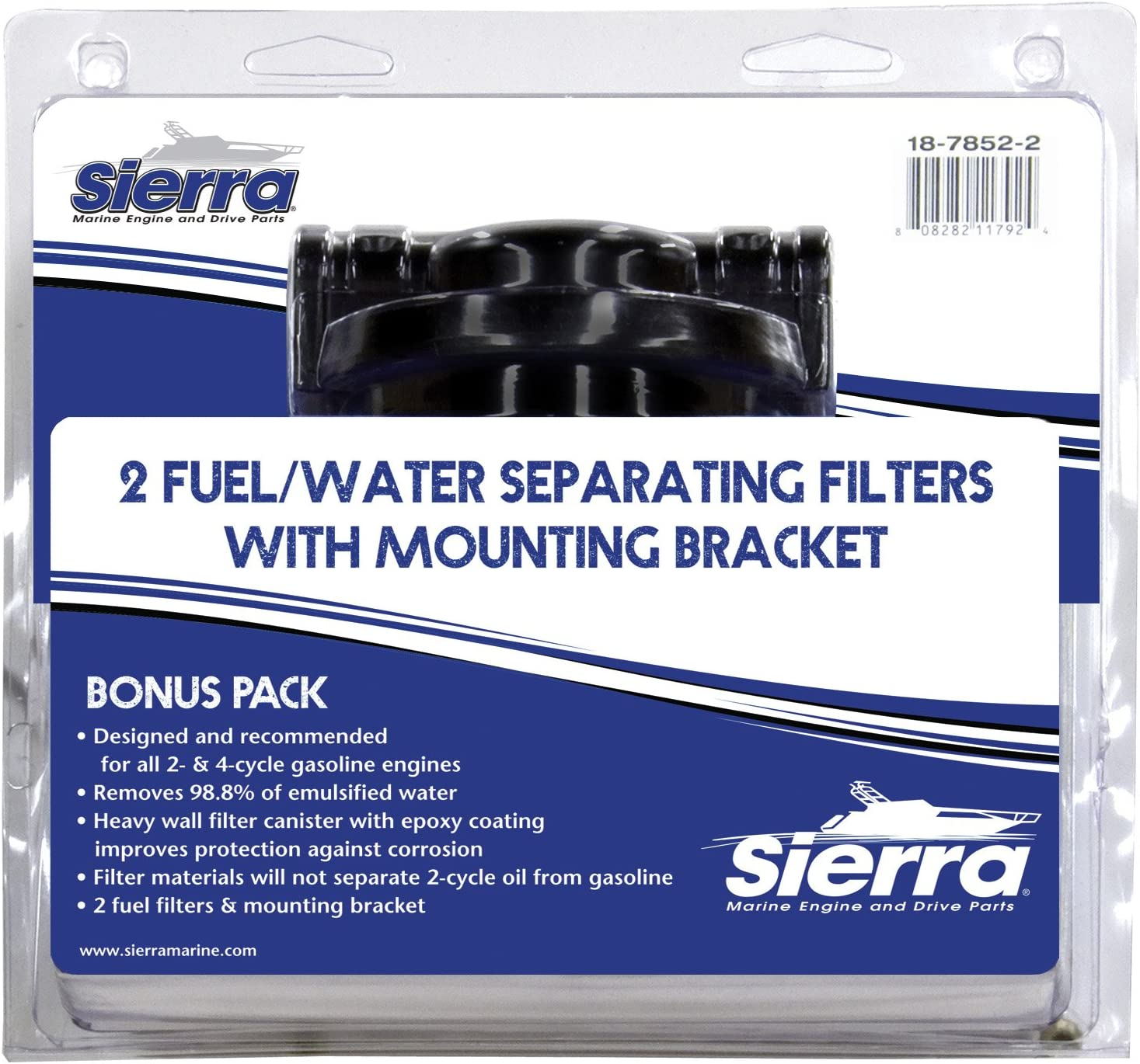 SIERRA 18-7845 FUEL WATER SEPARATOR FILTER 2 PACK SEALED NEW  FREE SHIPPING !!!