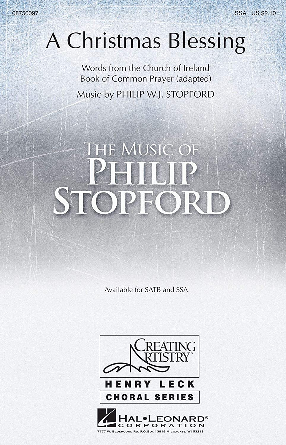 Philip Stopford: A Christmas Blessing (SSA). Sheet Music for SSA ...
