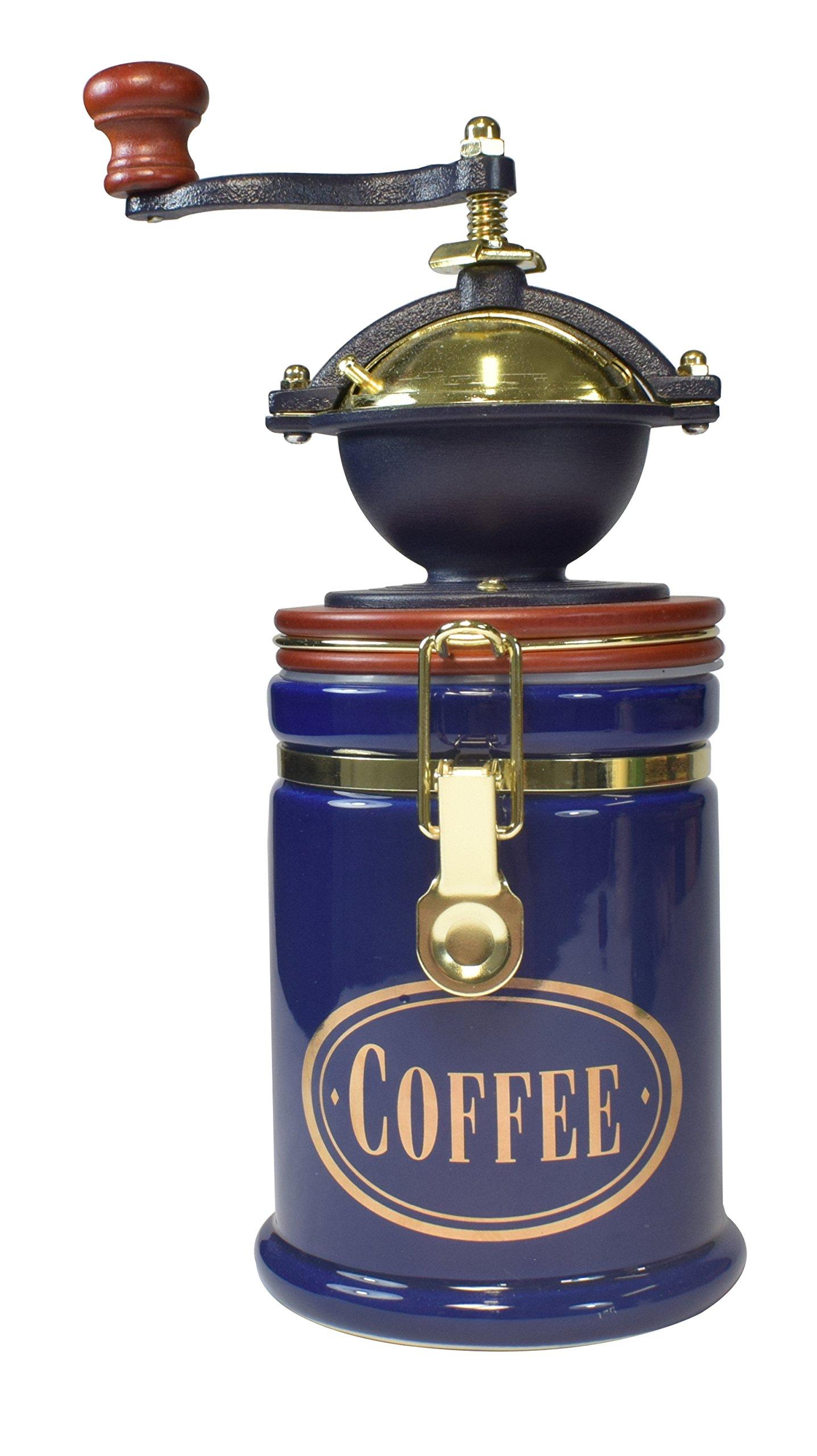 Bisetti 62026 Volluto Coffee Grinder, Blue