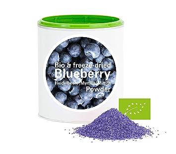 Arándano en Polvo - Liofilizado|biológico|vegano|crudo|pura fruta|no aditivo|rica en vitamina|Good Nutritions 120g: Amazon.es: Hogar