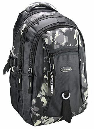 Mochila, mochila escolar, bolsa de deporte, mochila de tiempo libre, mochila de ciudad, trabajo, deportes, escuela, Uni, tiempo libre multicolor camuflaje: ...