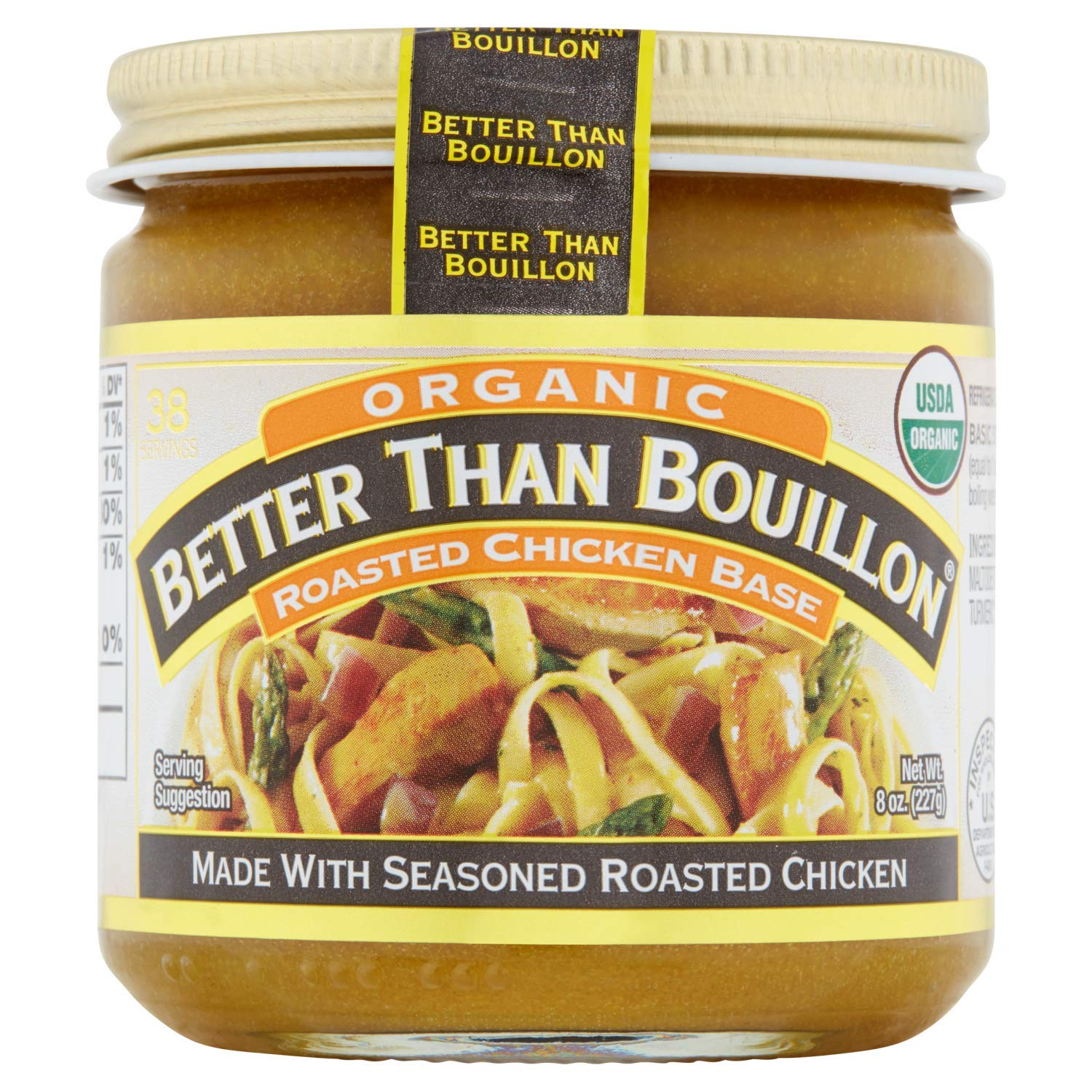 Better Than Bouillon, Organic Roasted Chicken Base, 8 oz. (Pack of 3)