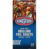 Kingsford Heavy Duty Pop-Up Grilling Foil Sheets, 50 Count   Pre-Cut Aluminum Foil Sheets   Individual Foil Sheets for…