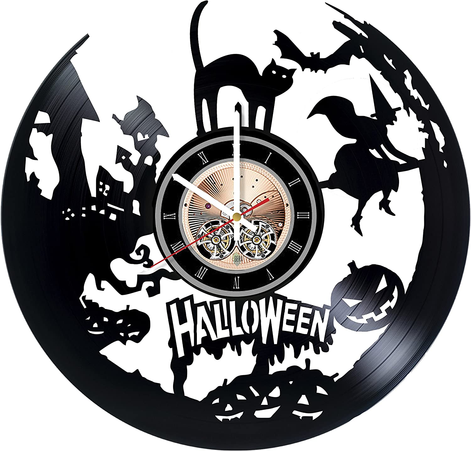 Halloween Vinyl Record Wall Clock Gift Room - Home Some Dallas Mall reservation Decor