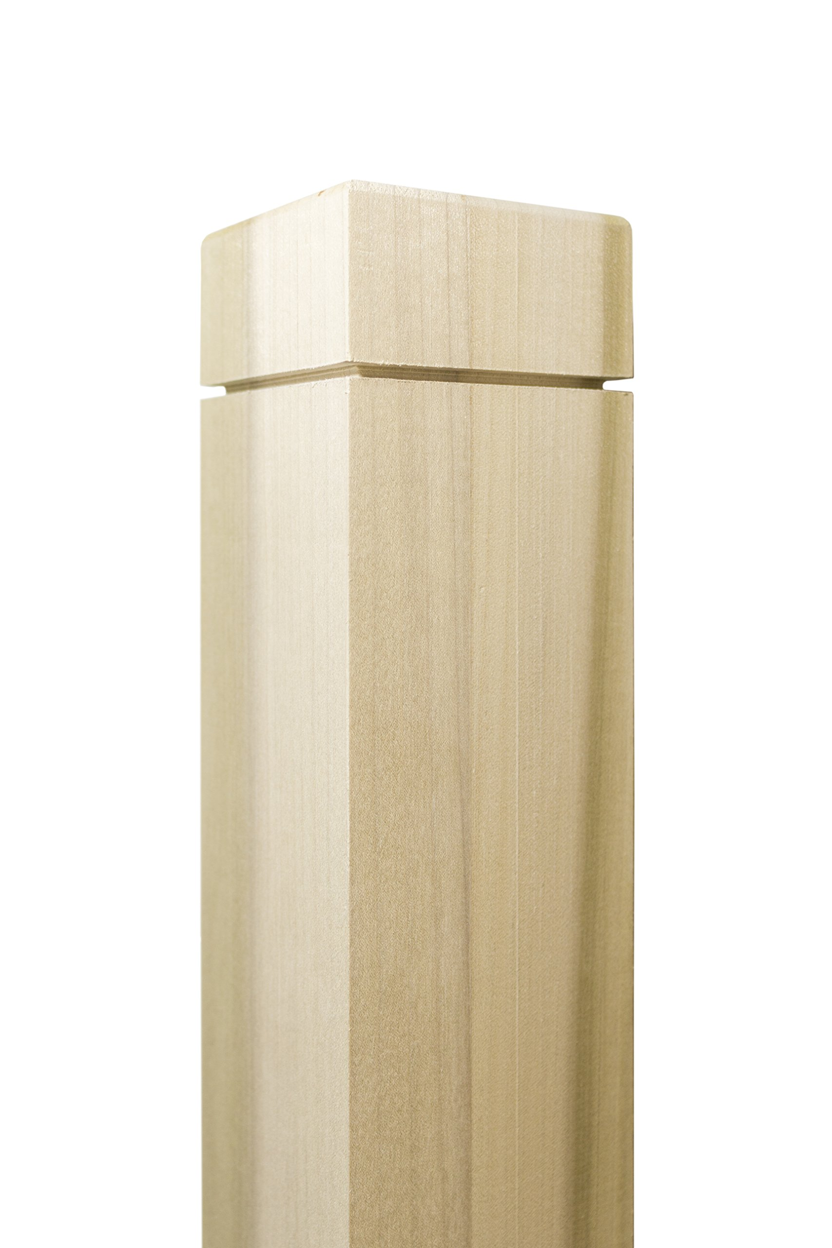 Notched Newel - 3'' x 48'' - Clean Routed Design - Paint-Grade (Poplar)