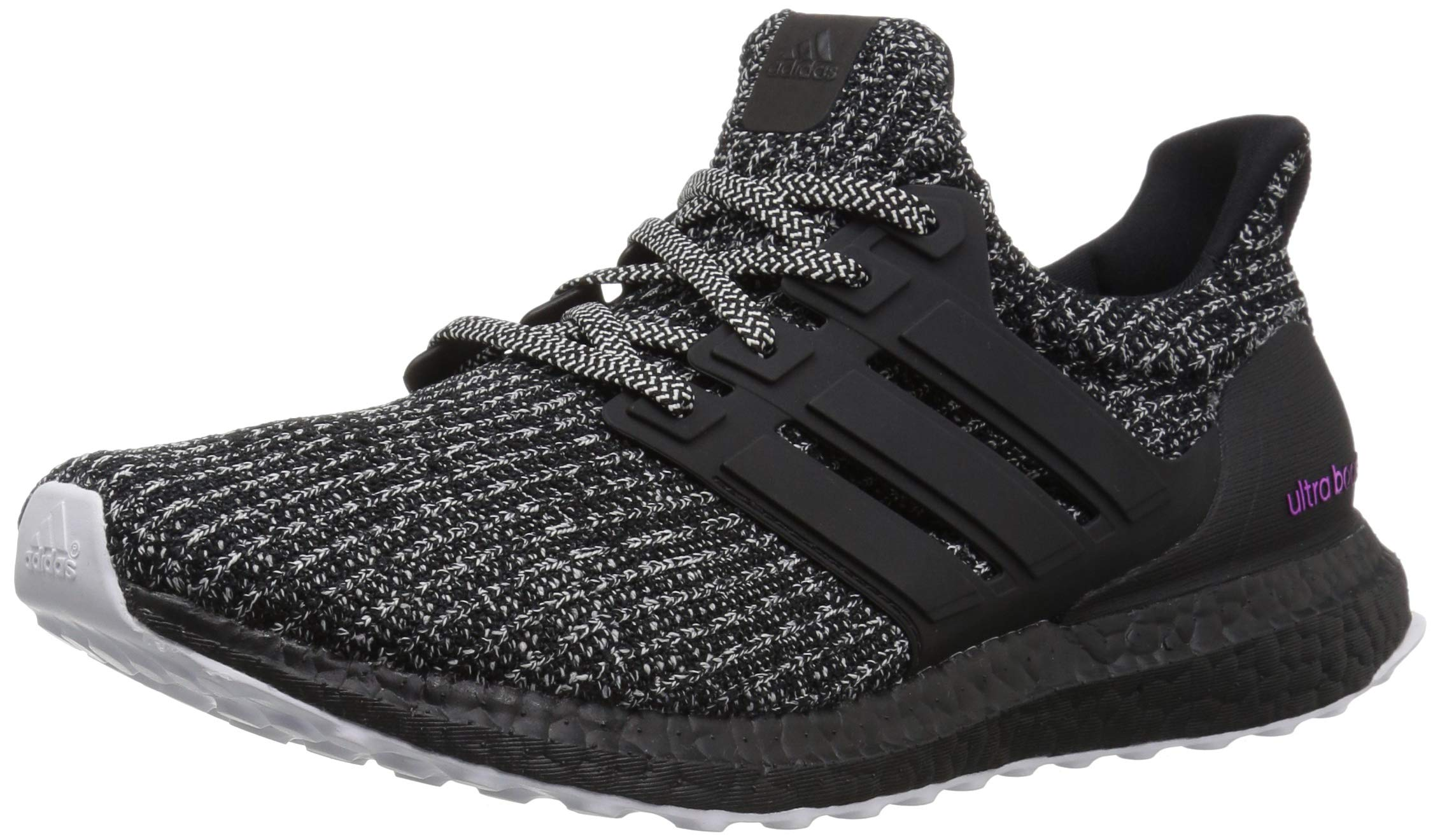 adidas Men's Ultraboost Running Shoe Cloud WhiteBlackShock Pink 10.5 M US