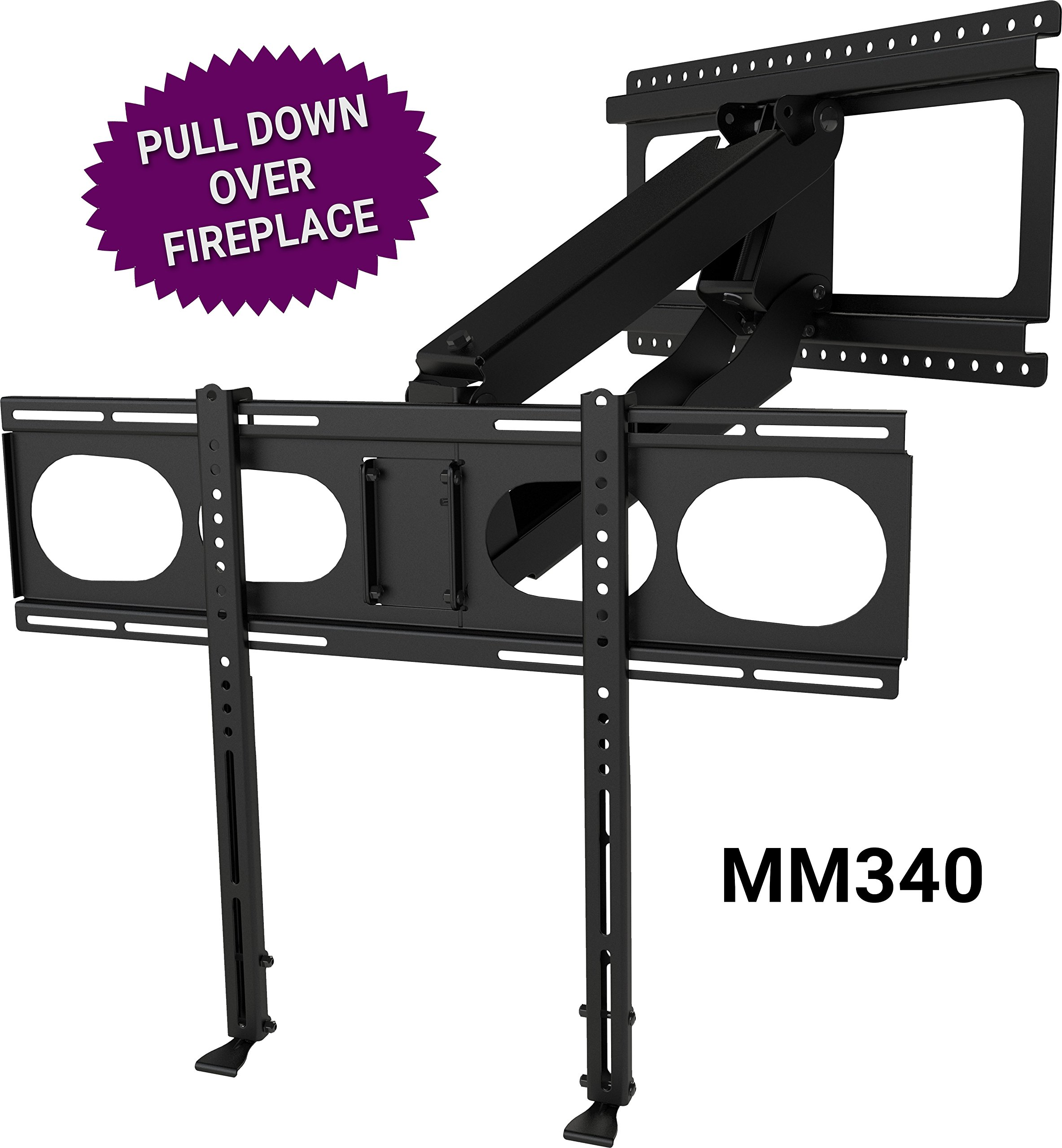 MantelMount MM340 - Above Fireplace Pull Down TV Mount by MantelMount