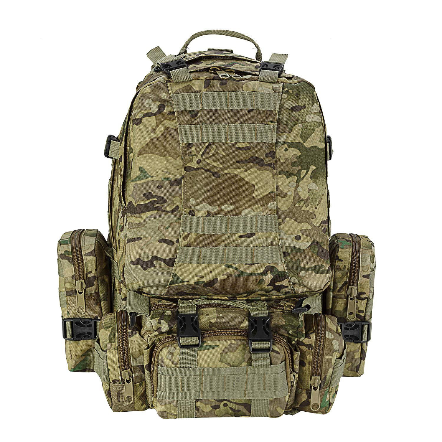 CVLIFE Built-up Military Tactical Rucksack Army Survival Backpack Assault CP by CVLIFE