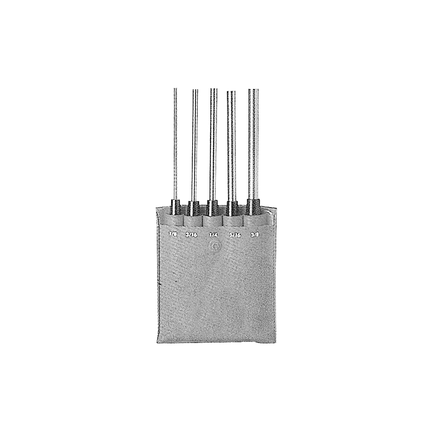 USA 8 Overall Length ABS Import Tools Inc 8 Overall Length HHIP 8600-4104 5 Piece Extra-Long Drive Pin Punch Set with Black Nitrate Finish