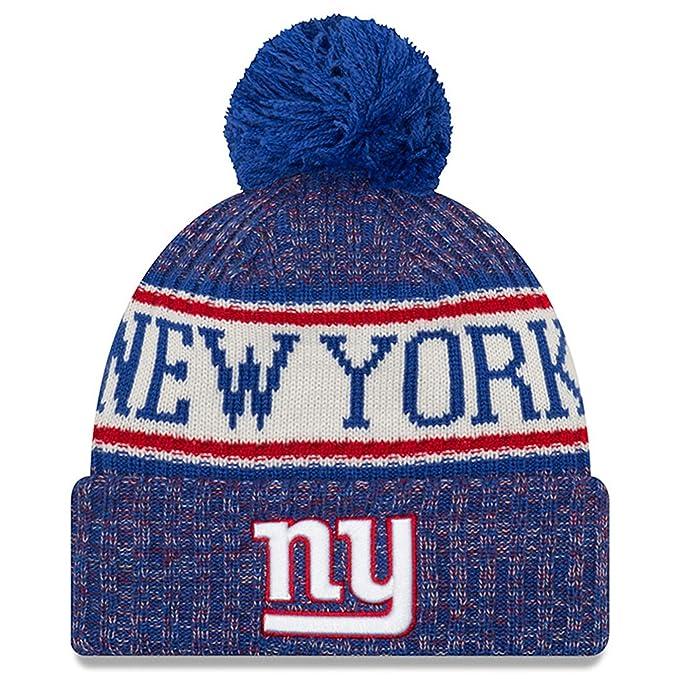 574c0905 New Era Knit New York Giants Biggest Fan Redux Sport Knit Winter Stocking  Beanie Pom Hat Cap NFL