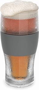 Host Freeze Beer Freezer Gel Chiller Double Wall Plastic Frozen Pint Glass, Set of One, Grey