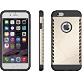Zoyee Rugged Anti-Scratch Hybrid Dual Layer Case for Apple iPhone 6 and 6s - Golden
