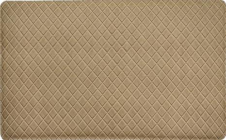 Gentle Step  Anti Fatigue Memory Foam Kitchen Mat (Basket Weave Khaki)