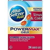 Alka-Seltzer Maximum Strength PowerMax Gels with Acetaminophen, Sinus & Cold Medicine...