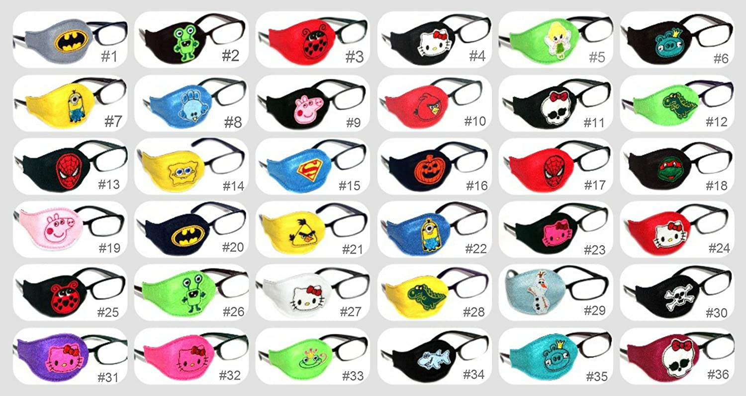 Kids and Adults Orthoptic Eye Patch For Amblyopia Lazy Eye Occlusion Therapy Treatment Design #11 Mon High on Black