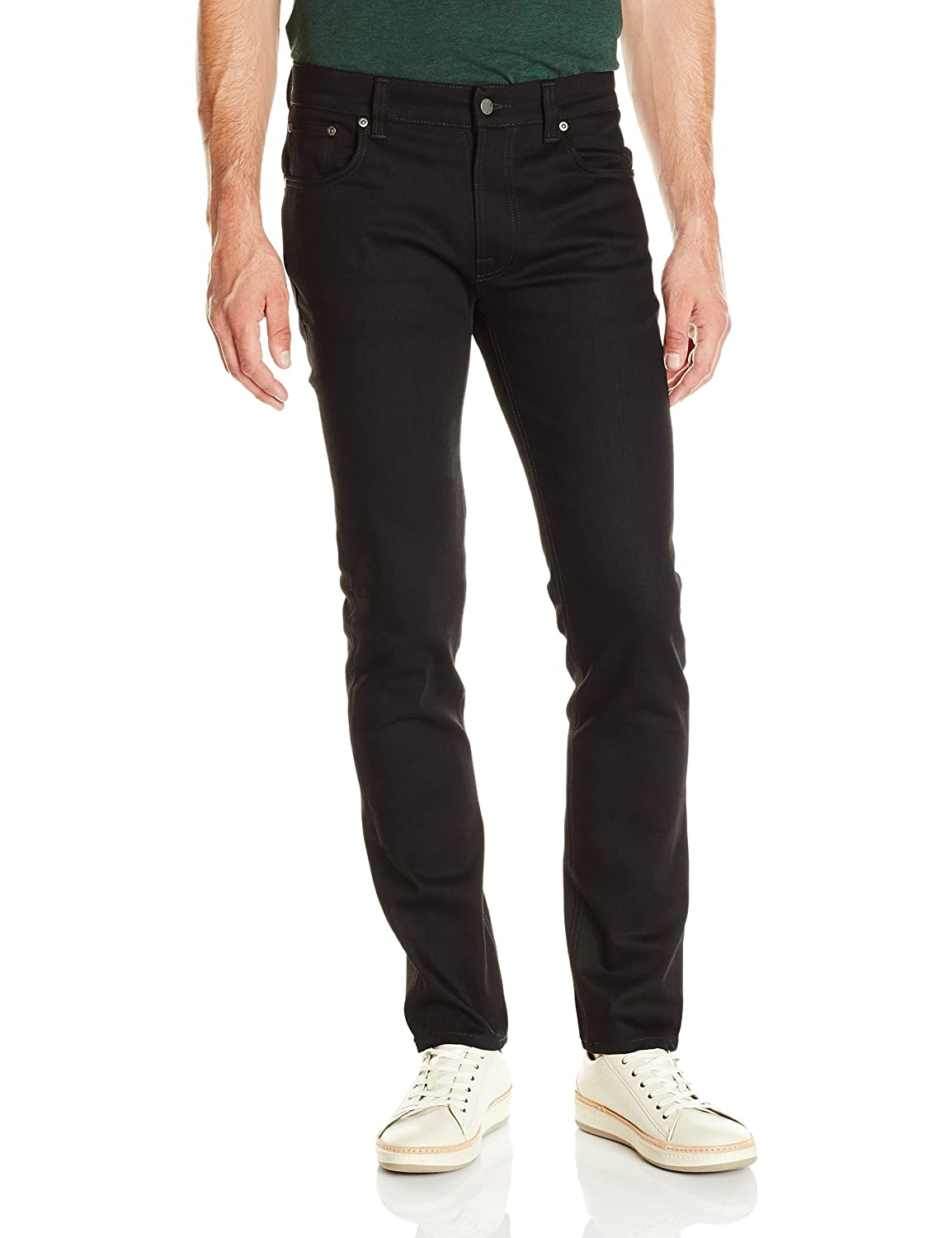 Dry Cold Black Nudie Jeans Men's Men's Men's Thin Finn Jean in Dry Cold Black 797dcf