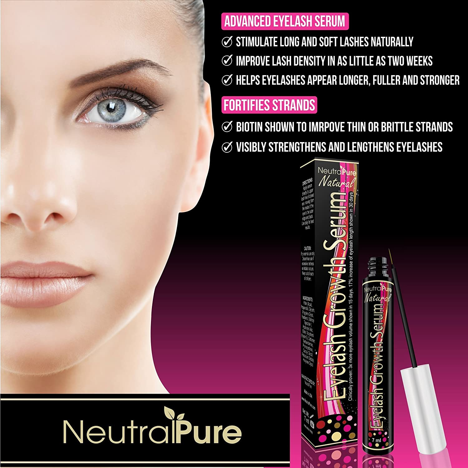 Amazon Eyelash Growth Serum Clinically Proven Thicker Longer