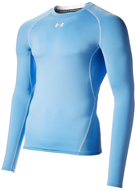 Under Armour Men's HeatGear Long Sleeve Compression Shirt, Carolina Blau Weiß, Medium