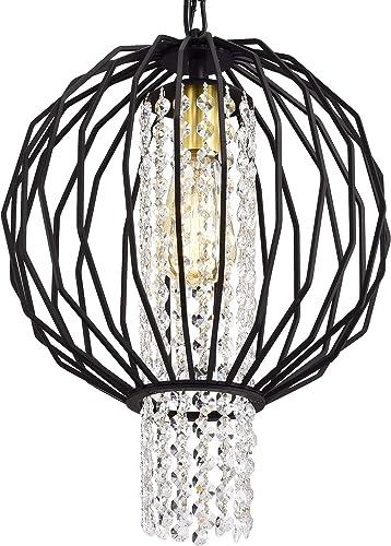 Black Chandelier Small Crystal Chandelier Lighting Modern Orb Chandeliers 1 Light Sphere Light Fixture