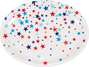 Creative Converting Patriotic Fourth of July Plastic Tray, 14