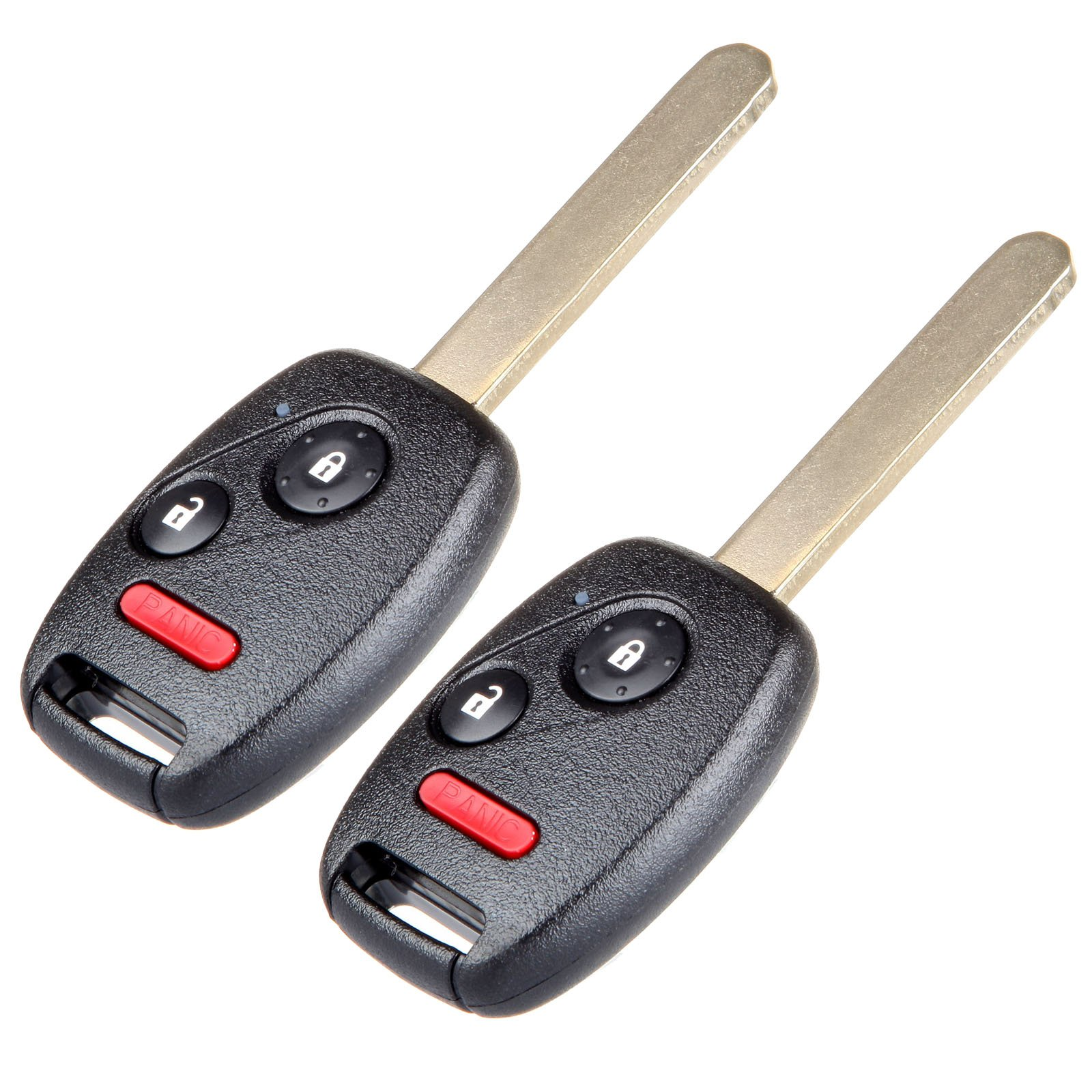 SCITOO 2X Uncut Ignition Keyless Entry Car Remote Transmitter Fob 3 Button Replacement fit Honda Civic Lx Odyssey N5F-S0084A