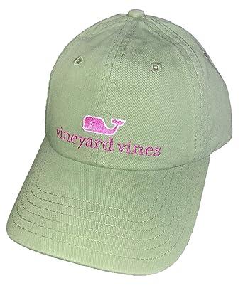 Vineyard Vines Whale Logo Baseball Hat - White Cap OS (Olive Branch ... 5b4f2f003ea
