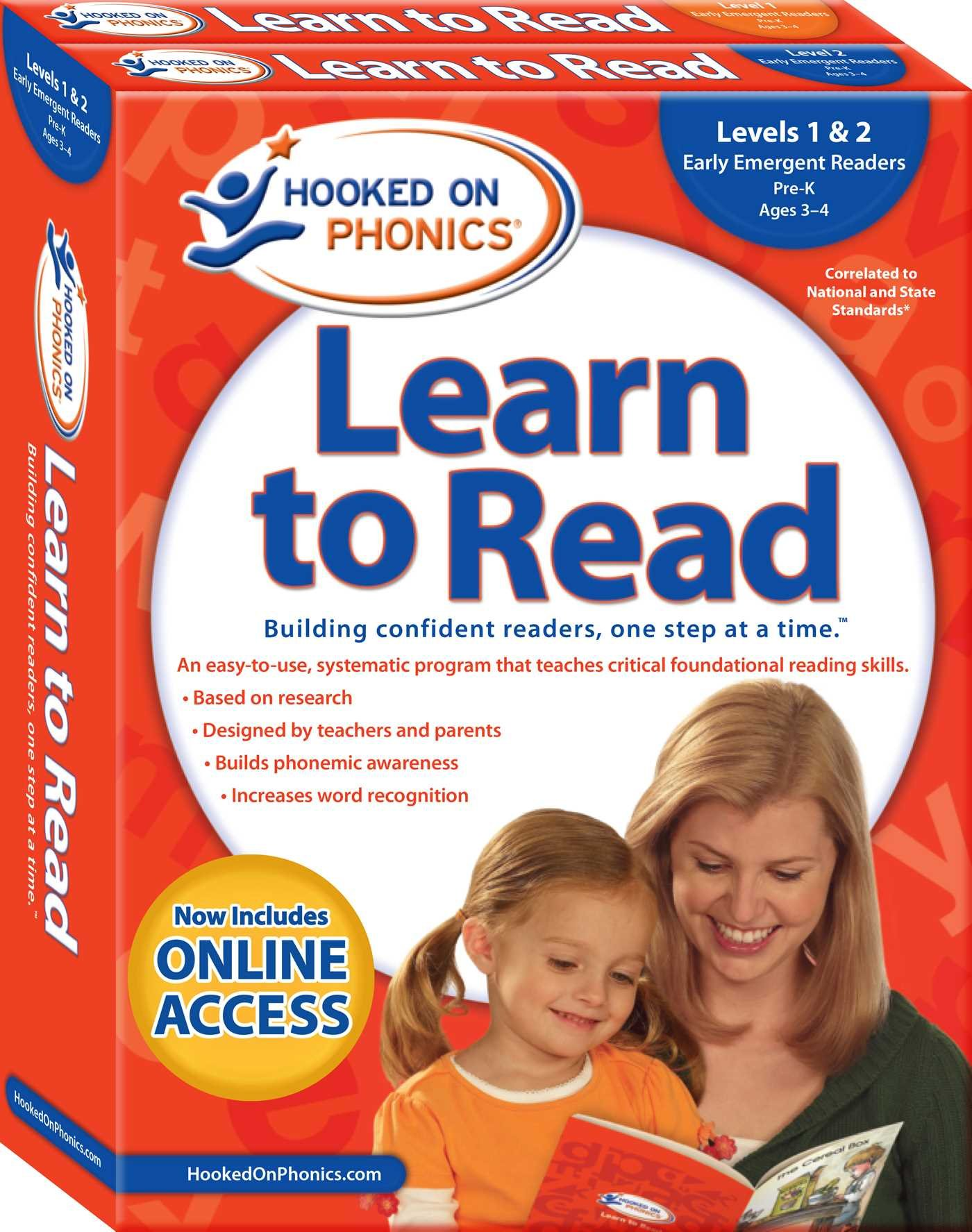 Hooked on Phonics Learn to Read - Levels 1&2 Complete: Early Emergent Readers (Pre-K | Ages 3-4) (1) (Learn to Read Complete Sets) by Hooked on Phonics