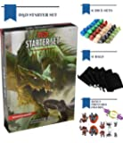Dungeons and Dragons Starter Set 5th Edition Board Games - Dice in Bag - Family Gift Fun D&D Rolling Board Game for Adults - The New Adult Magic Board Game 5e Kit for Beginner Popular Book Pack
