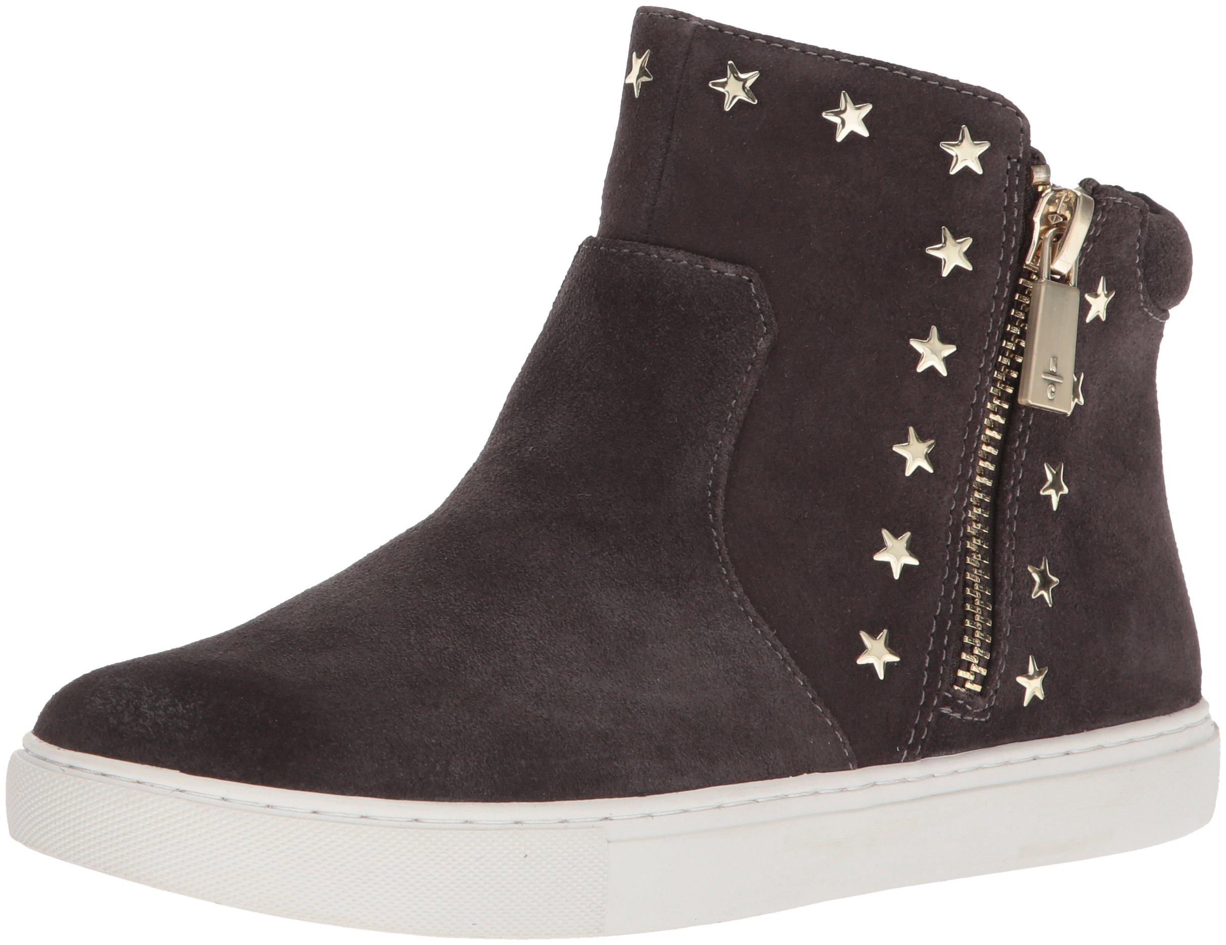 Kenneth Cole New York Women's Kiera Star Mid-height Zippers On Sides and Stud Embellishment Sneaker, Asphault, 8.5 Medium US
