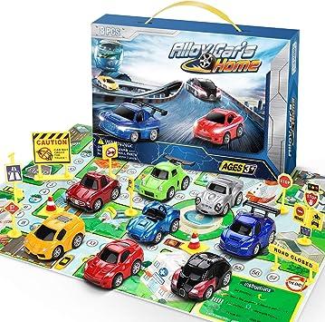 lenbest Coches Juguete, Coches para Niños, Coche Metalico Juguete, Coches de Juguetes Cars para 3 Años en adelante ...
