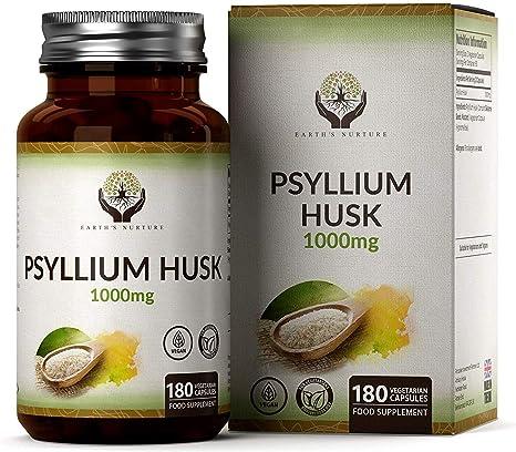 EN Cascara de Psyllium 1000mg por Porción 180 Capsulas Veganas ...