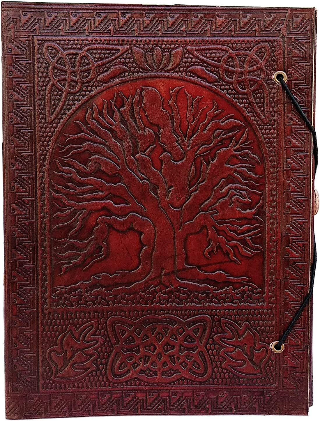 Large Tree of Life Leather Journal Bound Leather Journal Leather Journal to Write in Leather Journal Embosses Leather journals Fantasy Leather journals notebooks Leather journals for Men & Women