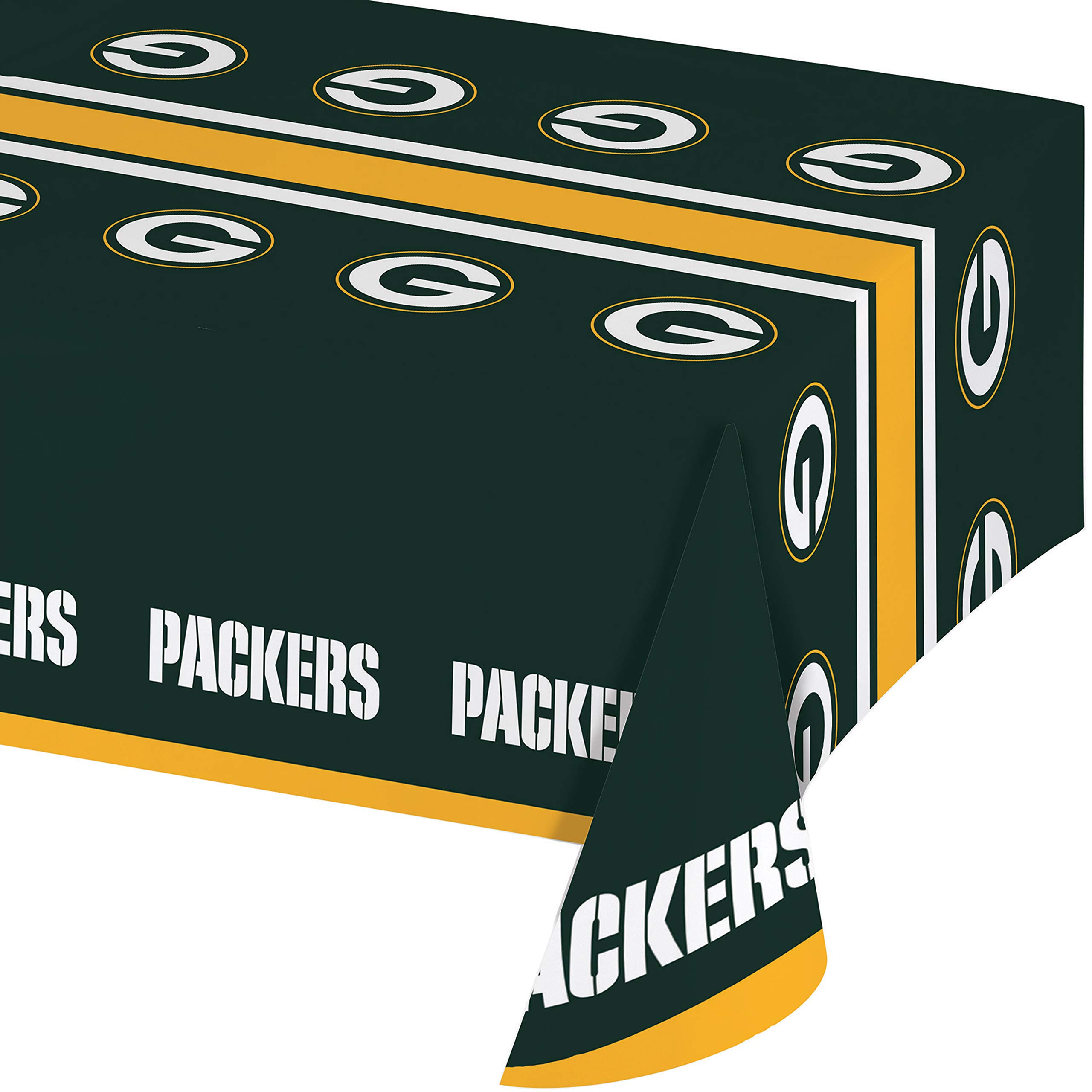 Green Bay Packers Plastic Tablecloths, 3 ct