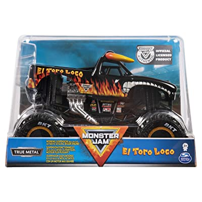 Monster Jam, Official El Toro Loco Monster Truck, Die-Cast Vehicle, 1:24 Scale: Toys & Games