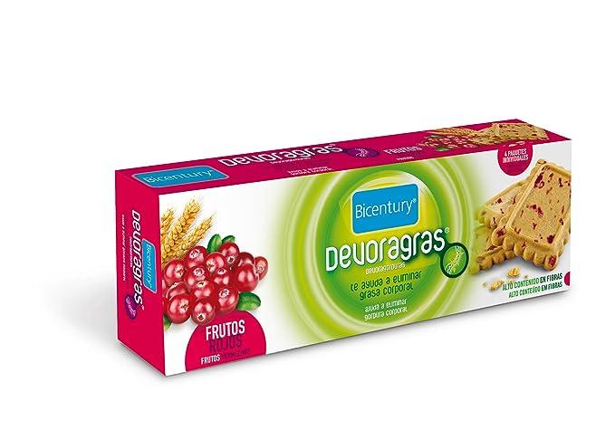 Bicentury - Galletas devoragras con frutos rojos - 40 g x 4 unidades