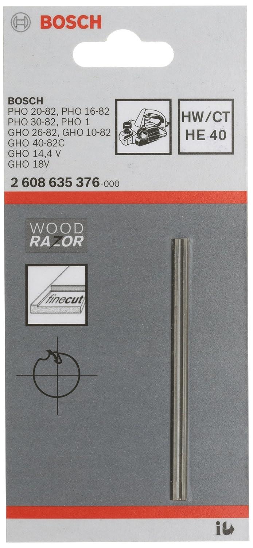 Bosch 2 608 635 376 - Cuchilla del cepillo - Scharf, gerade, HM, HE 40, 40° (pack de 1) 40° (pack de 1) 2608635376