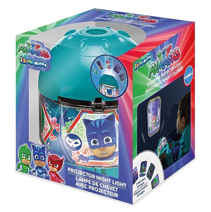 PJask PJ - Lámpara de proyector, acrílico, color turquesa: Amazon.es: Hogar