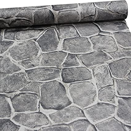 11 Yard Stone Wallpaperl And Stick Removable Castle Tower Brick Rock Wall Fortress Amazon Com