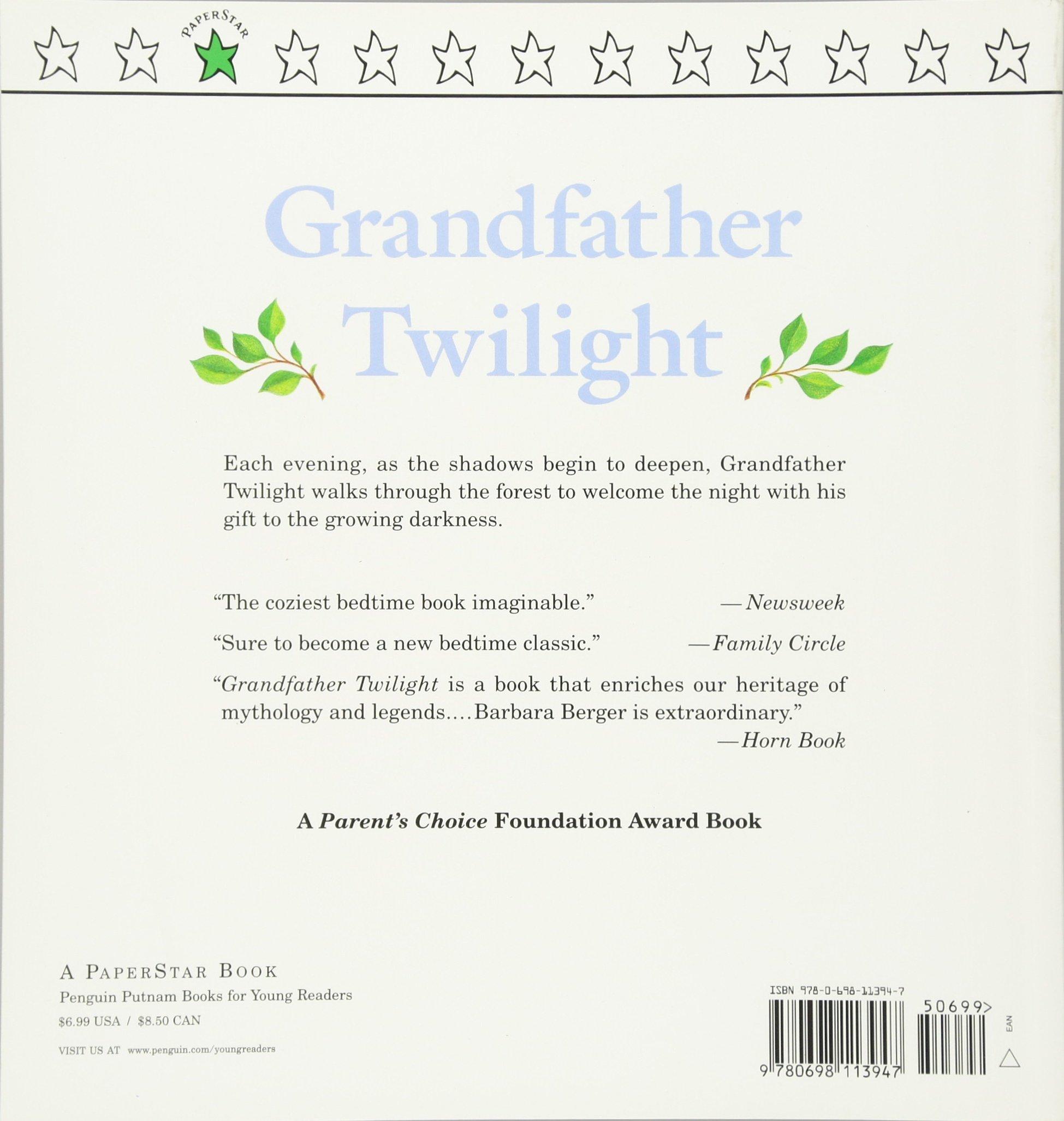 Grandfather Twilight (paperstar Book): Barbara Helen Berger: 9780698113947:  Amazon: Books