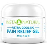 InstaNatural Pain Relief Cream with Menthol and Arnica - Cooling Gel Medication for Back, Knees, Elbows, Muscles, Arthritis & More - Powerful Anti Inflammatory Treatment for Lasting Relief - 2 OZ