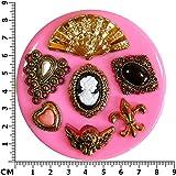 Fairie Blessings Moule en silicone pour décorer des gâteaux ou confectionner des gâteaux en pâte à sucre Motif victorien