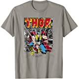 Marvel Mighty Thor Retro Comic Hammer Blast Graphic T-Shirt