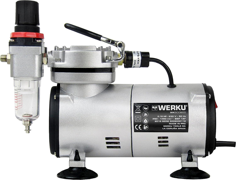 Werku WK500800 Mini Compresor Aerografía: Amazon.es: Bricolaje y ...