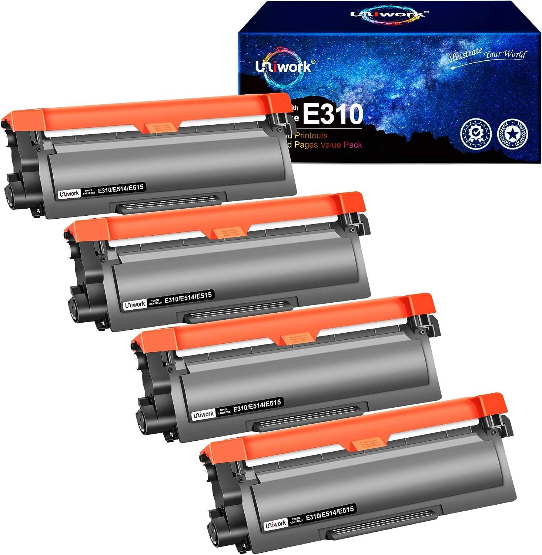 Uniwork Compatible Toner Cartridge Replacement for Dell E310dw P7RMX PVTHG 593-BBKD E310 E514 E515 use for E310DW E515DW E514DW E515DN Printer, 4 Black