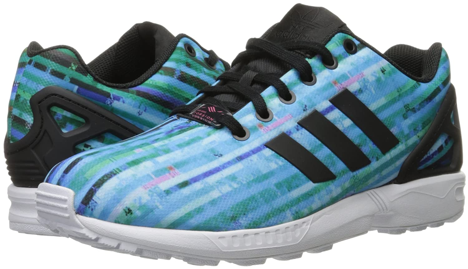 adidas Originals 10.5 Men's ZX Flux Fashion Sneaker B01FY6OKZU 10.5 Originals D(M) US|White/White/Neon Pink 882378