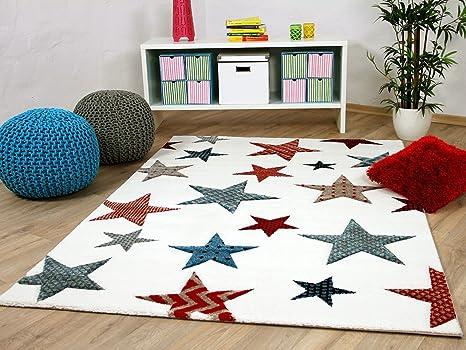 Tappeti Colorati Per Bambini : Maui tappeto per bambini e ragazzi crema stelle colorato in 5 misure