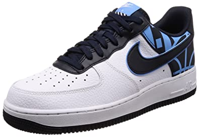 official photos e40bf 3d3dd Image Unavailable. Image not available for. Color  Nike Men s Air Force 1  LV8 White Dark Obsidian Leather Casual Shoes ...