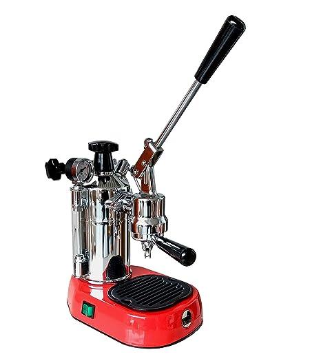 La Pavoni Professional Pro Rosso mano palanca máquina, máquina de café espresso, color rojo