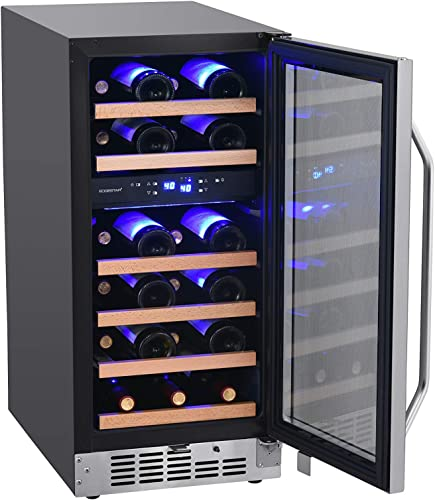 EdgeStar-CWR263DZ-15-Inch-Wide-26-Bottle-Built-In-Wine-Cooler-with-Dual-Cooling-Zones