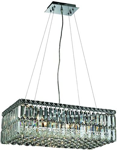 Elegant Lighting 2034D24C RC Maxim 7.5-Inch High 6-Light Chandelier, Chrome Finish with Crystal Clear Royal Cut RC Crystal